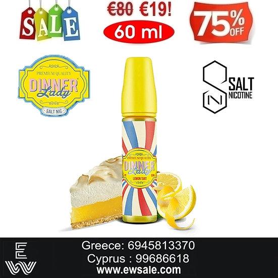60ml Dinner Lady Lemon Tart Nic Salt, άλατα νικοτίνης Υγρά άτμισης