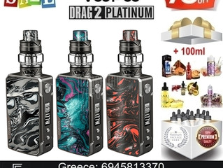 Voopoo Drag 2 Platinum Kit + 100ml Υγρά άτμισης €89!