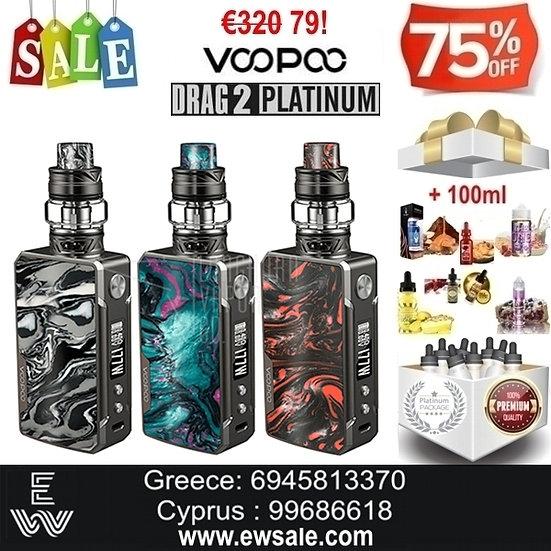 Voopoo Drag 2 Platinum 177W TC Kit ηλεκτρονικού τσιγάρου + 100ml Υγρά άτμισης
