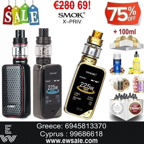 Smok X-Priv 225W TC Kit + TFV12 Prince + 100 ml Υγρά Αναπλήρωσης