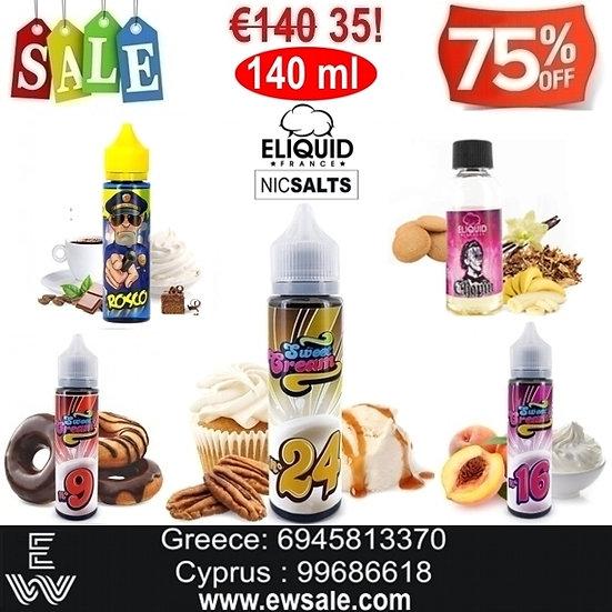 140 ml Nic Salt, άλατα νικοτίνης E-liquid France Υγρά αναπλήρωσης