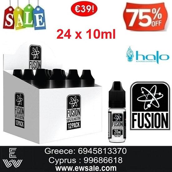 24x10 ml HALO FUSION Booster νικοτίνης - Ατμιστική Βάση νικοτίνης 20 mg
