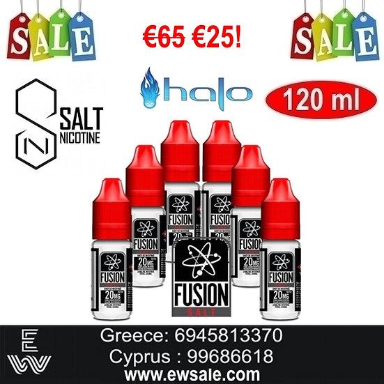 12x10 ml HALO FUSION Nic Salt άλατα νικοτίνης 20 mg