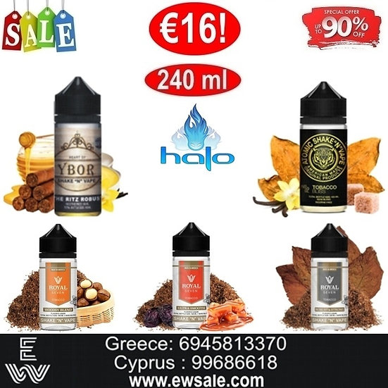 240 ml Halo DIY Καπνικές Γεύσεις Υγρά άτμισης