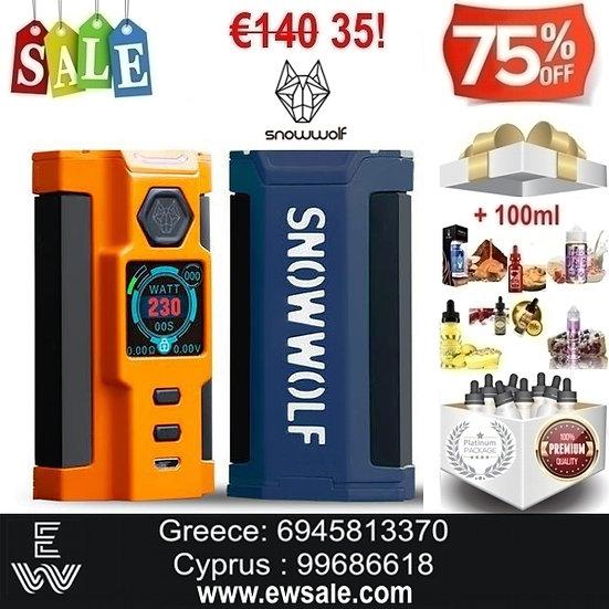 SnowWolf VFENG S 230W TC Mod ηλεκτρονικού τσιγάρου + 100ml Υγρά άτμισης