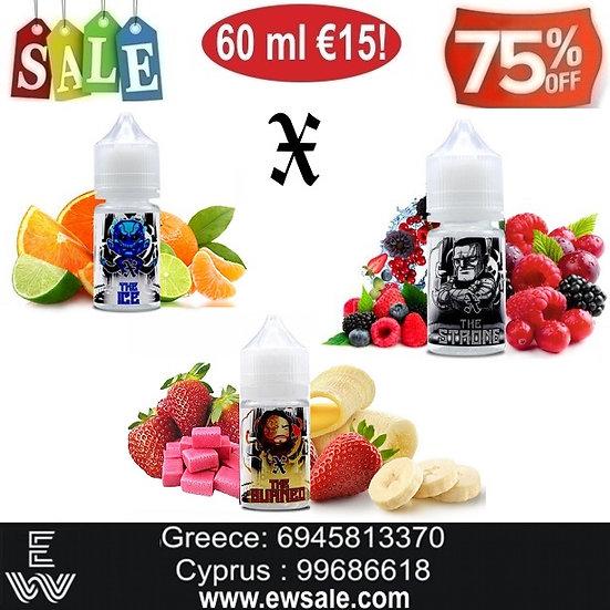 60 ml  X Συμπυκνωμένα αρώματα DIY υγρων αναπληρωσης