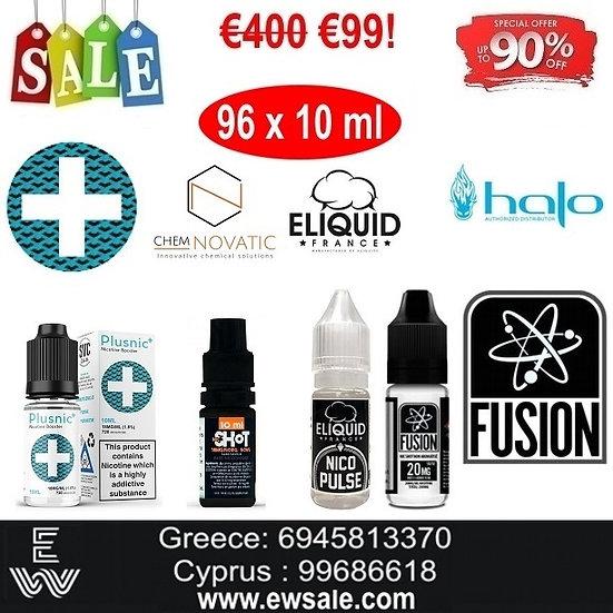 96x10 ml Booster νικοτίνης - Ατμιστική Βάση νικοτίνης
