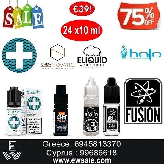 24x10 ml Booster νικοτίνης - Ατμιστική Βάση νικοτίνης 20mg