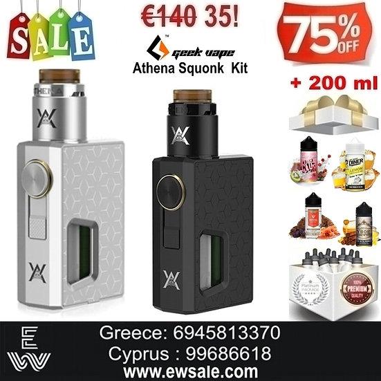 Geekvape Athena Squonk Kit Ηλεκτρονικά Τσιγάρα + 200 ml Υγρά άτμισης