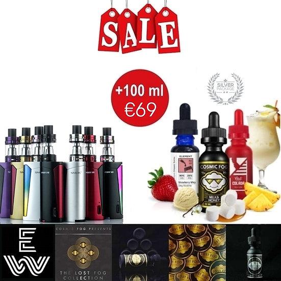 Smok Priv V8 + TFV8 Baby tank +100 ml Premium E liquid / Δημοφιλή Υγρά άτμισηςρο