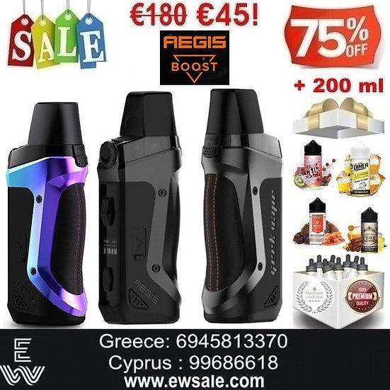 Geek Vape Aegis Boost kit Ηλεκτρονικά Τσιγάρα + 200ml Υγρά