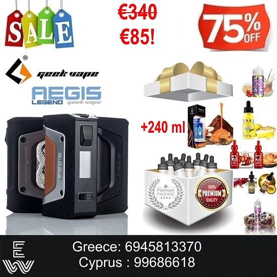 Geek Vape Aegis Legend 200W Ηλεκτρονικά Τσιγάρα + 240ml Υγρά άτμισης