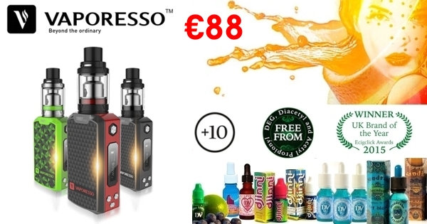 Vaporesso Tarot Nano Mini 80W + 10 x 10ml E-Liquids / Βραβευμένα Υγρά άτμισης