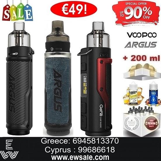 Voopoo Argus X Kit Ηλεκτρονικά Τσιγάρα + 200ml Υγρά άτμισης