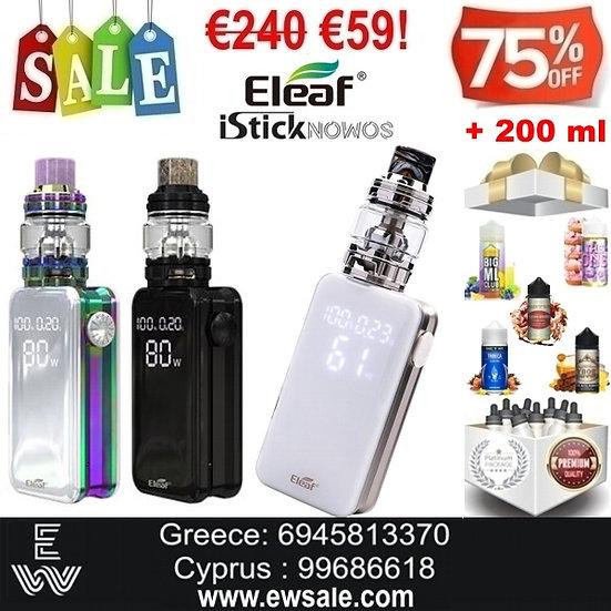 Eleaf iSitck NOMOS kit ηλεκτρονικού τσιγάρου + 200ml Υγρά άτμισης