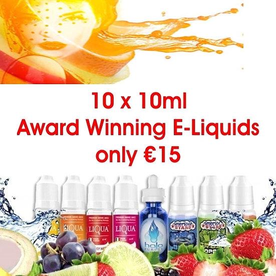10 x 10ml Vape E-Liquids - Υγρά άτμισης