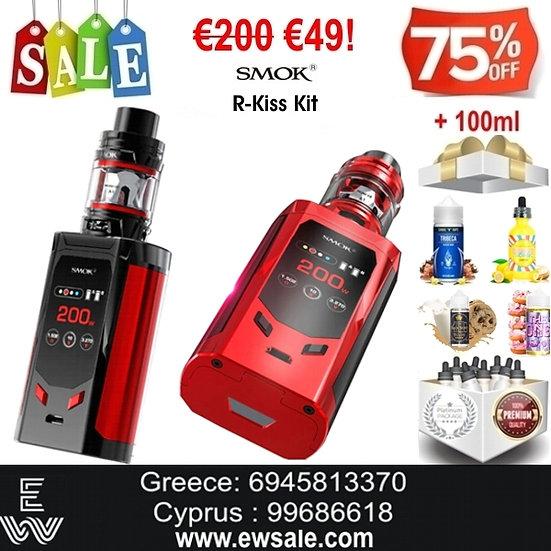 SMOK R–KISS KIT + 100 ml Δημοφιλή Υγρά Αναπλήρωσης, άτμισης