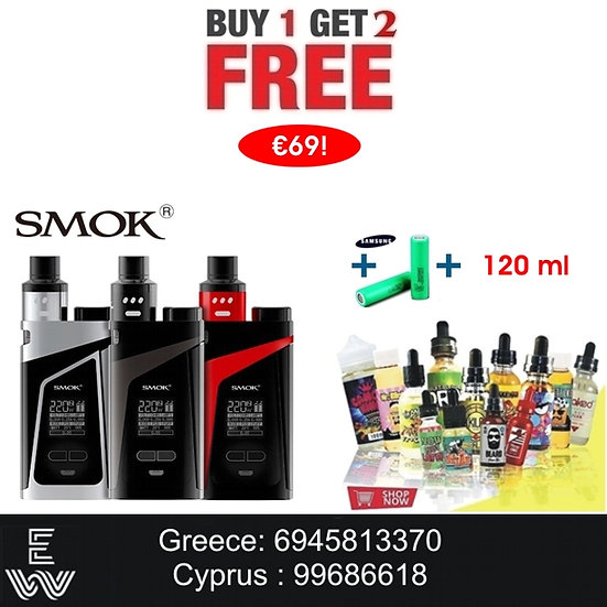 1+2: SMOK Skyhook RDTA + 18650 + 120 ml Δημοφιλή Υγρά άτμισης
