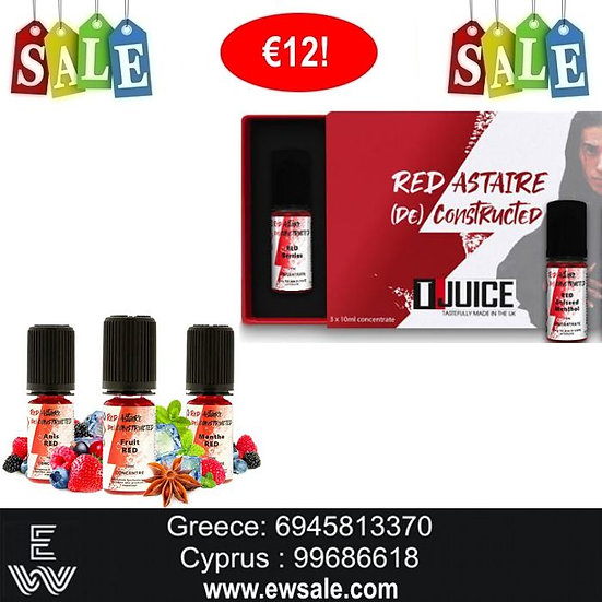 3 x 10 ml T-Juice's Red Astaire (De) Constructed Αρώματα DIY υγρων άτμισης