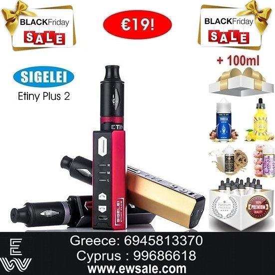 Sigelei Etiny Plus Ⅱ Kit Ηλεκτρονικά Τσιγάρα + 100ml Υγρά άτμισης