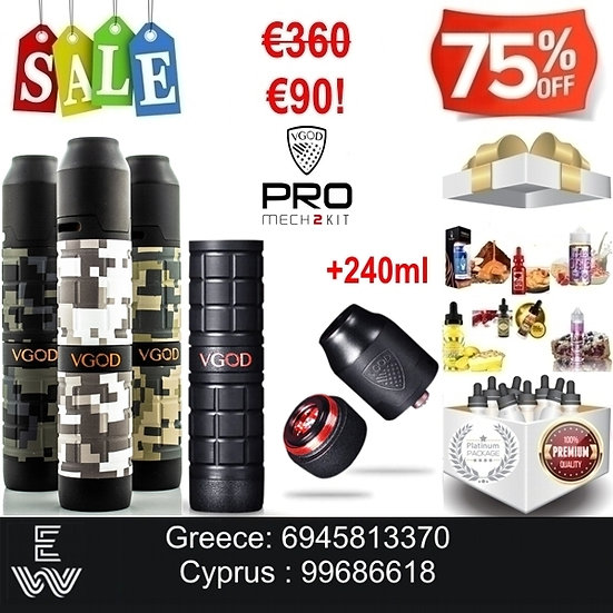 VGOD PRO Mech 2 Kit Ηλεκτρονικά Τσιγάρα + 240 ml Δημοφιλή Υγρά ά