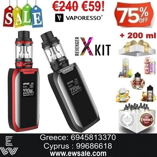 Vaporesso Revenger X 220W Ηλεκτρονικό Τσιγάρο + 200 ml Υγρά Αναπλήρωσης