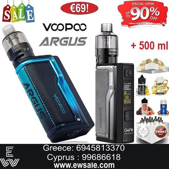 Voopoo Argus GT Kit Ηλεκτρονικά Τσιγάρα + 500ml Υγρά άτμισης