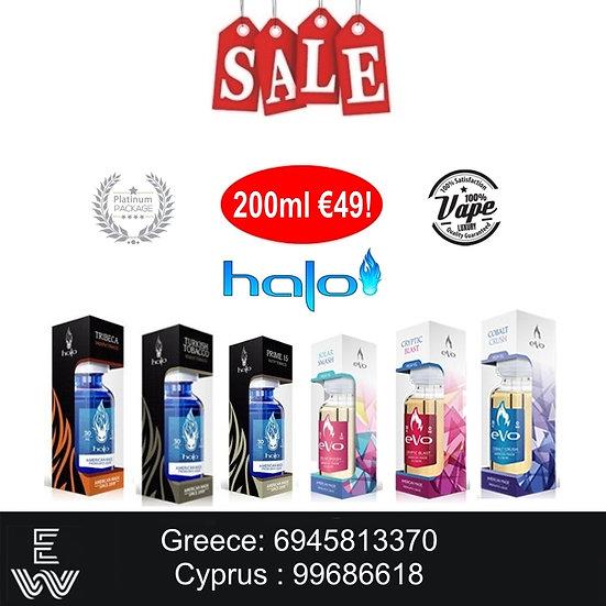 200 ml Halo Platinum Sample Box Υγρά Αναπλήρωσης