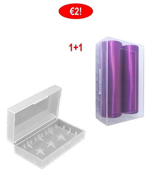 1+1Θήκες 2 μπαταριών 18650 18350ηλεκτρονικών τσιγάρων