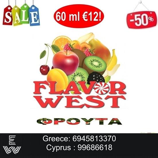 60 ml Flavor West  Φρούτα Αρώματα DIY υγρων αναπληρωσης