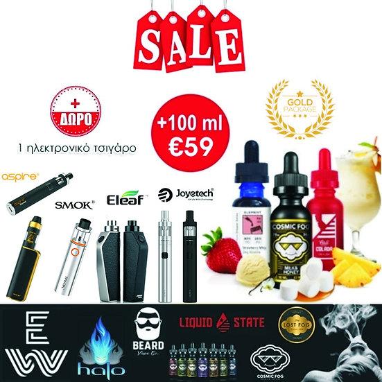 100 ml Δημοφιλή Υγρά άτμισης / E-Liquids + Ηλεκτρονικό τσιγάρο