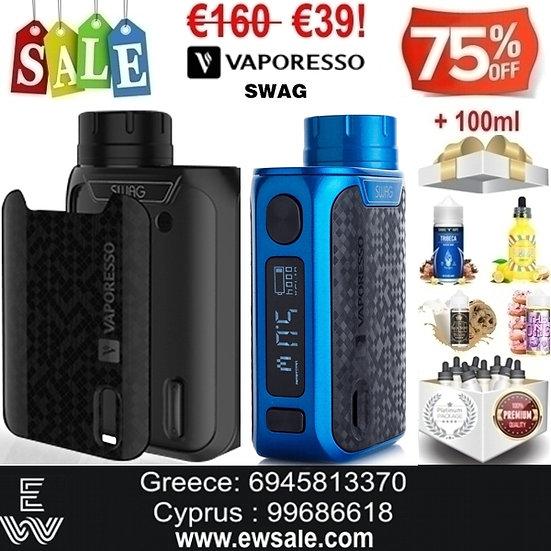 Vaporesso Swag Mod ηλεκτρονικού τσιγάρου + 100 ml Υγρά Αναπλήρωσης