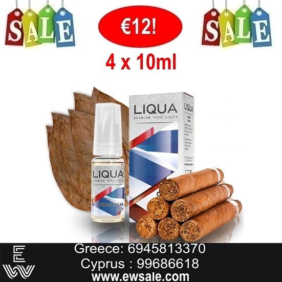 40 (4x10) ml LIQUA Cuban Cigar Υγρά Αναπλήρωσης