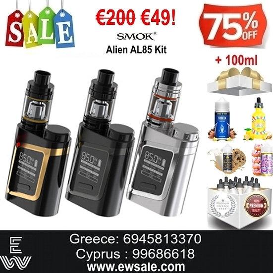 Smok Alien AL85 Kit Ηλεκτρονικά Τσιγάρα + 100 ml Υγρά Αναπλήρωσης, άτμισ