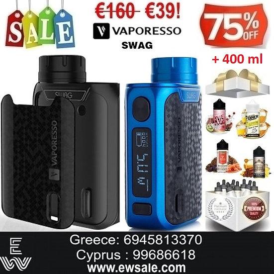 Vaporesso Swag Mod ηλεκτρονικού τσιγάρου + 400 ml Υγρά Αναπλήρωσης