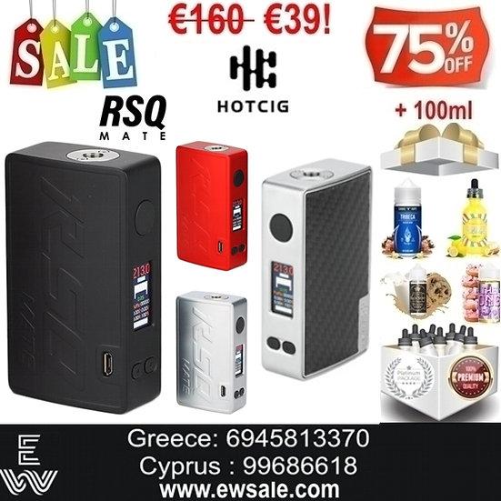 Hotcig RSQ Mate 213W Mods ηλεκτρονικού τσιγάρου + 100ml Υγρά άτμισης
