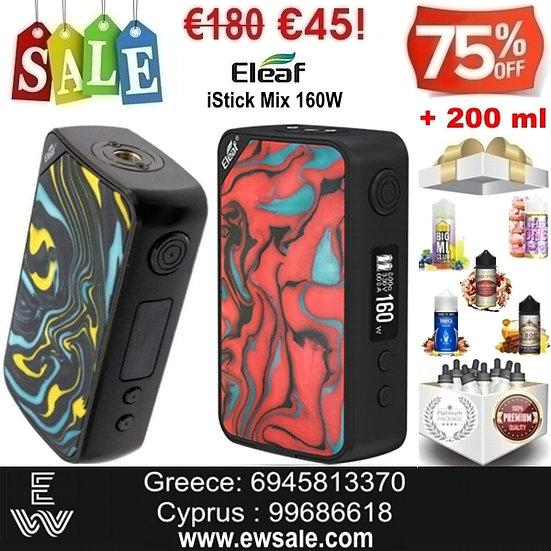 Eleaf iStick Mix 160W Mods ηλεκτρονικού τσιγάρου + 200ml Υγρά άτμισης