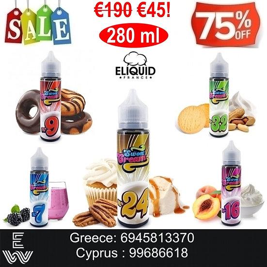 280 ml E-liquid France Sweet Cream Υγρά αναπλήρωσης