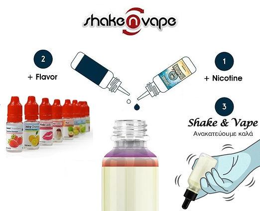 Hipzz Υγρά άτμισης DIY σε 2 απλά στάδια! Easy 2 Mix - Shake & Vape 2 simple stage E-liquid!