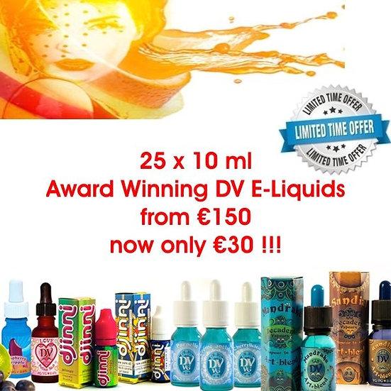 25 x 10 ml E-Liquids - Υγρά άτμισης