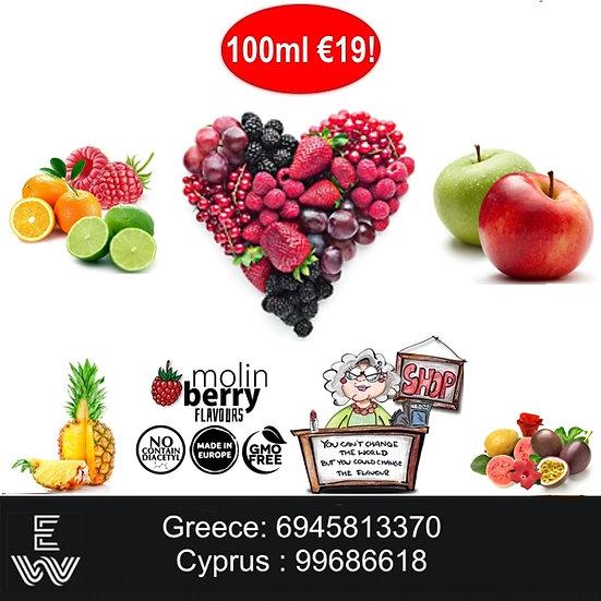 100 ml Φρούτα Molinberry M-line Αρώματα DIY υγρων αναπληρωσης