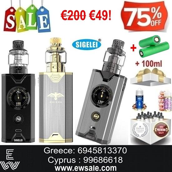 Sigelei Chronus Shikra 200W Kit Ηλεκτρονικό Τσιγάρο +18650 μπαταρίες +100ml Υγρά