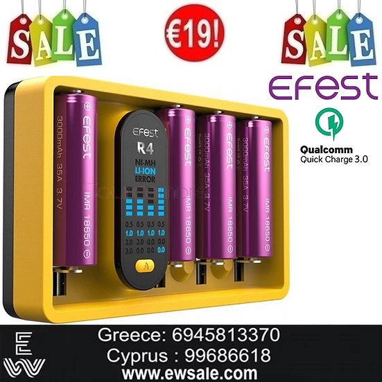 Efest iMate R4 Intelligent QC Charger φορτιστής μπαταριών ηλεκτρονικών τσιγάρων