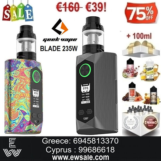 Geek Vape BLADE 235W Kitηλεκτρονικό τσιγάρο + 100ml Υγρά άτμισης