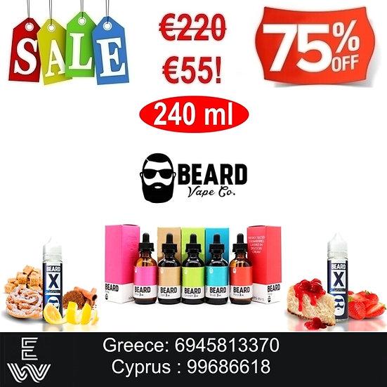 240 ml Beard Προσφορές Υγρά Αναπλήρωσης, άτμισης Ηλεκτρονικού Τσιγάρου