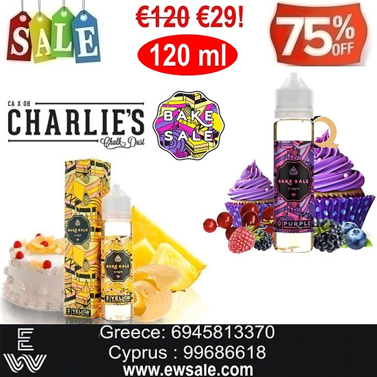 120 ml Charlie's Chalk Dust Bake Sale Υγρά άτμισης