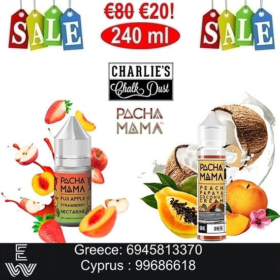 240 ml Charlie's Chalk Dust Pachamama DIY Υγρά αναπλήρωσης