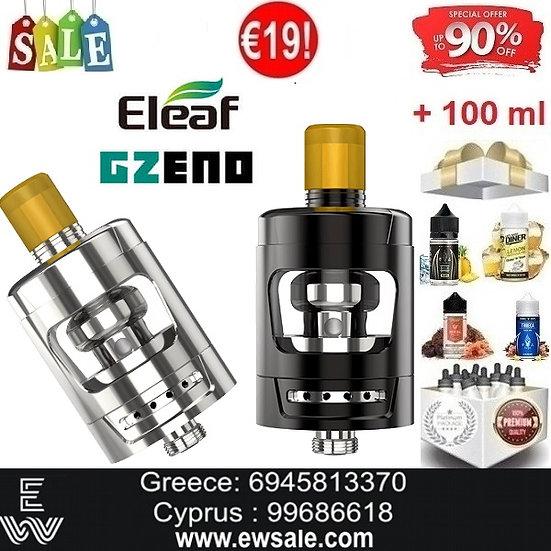 Eleaf GZeno Tank Ατμοποιητές ηλεκτρονικού τσιγάρου + 100ml Υγρά άτμισης