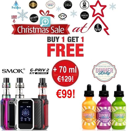 OFFER €99 : SMOK G-Priv 2 230w Touch Screen + TFV8 X Baby + 70 ml Dinner Lady