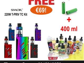 Προσφορά Hλεκτρονικό τσιγάρο SMOK T PRIV 220W Kit w/ TFV8 Big Baby